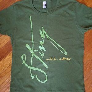 Sting Sacred Love World tour shirt